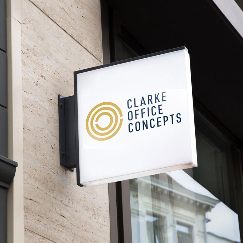 Clarke Office Concepts Sign Design